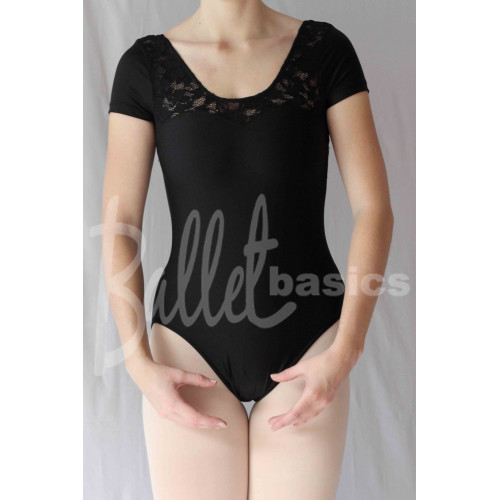 Lace Cap Sleeve Leotard